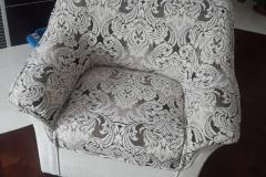 Восстановление и обивка кресла ракушка