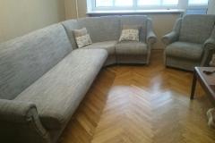 Перетяжка и ремонт углового дивана