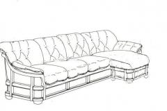 Эскиз углового дивана