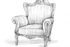 Эскиз кресла