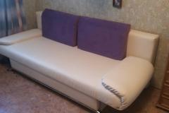 Перетяжка дивана еврокнига в искусственную кожу