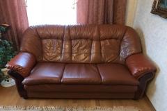 Замена износившихся элементов кожаного дивана