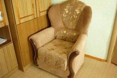 Комбинирование тканей на кресле