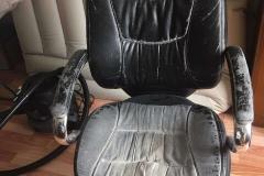 Офисный стул руководителя до перетяжки