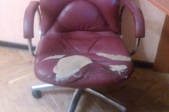 Компьютерное кресло до перетяжки