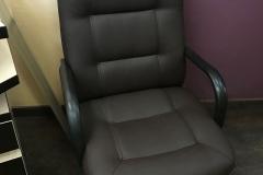 Компьютерное кресло перетянутое в экокожу