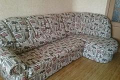 """Перетяжка углового дивана в ткань """"Лондон"""""""