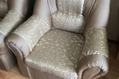 Перетяжка кресла в жаккардовую ткань