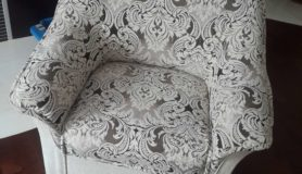 Восстановление и обивка кресла
