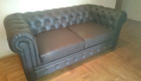 Замена обивки на диване Честер